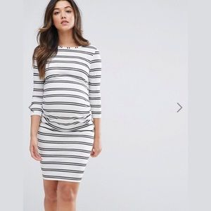 ASOS Maternity stripe bodycon dress
